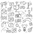 set of line icons social networks internet modern vector image vector image