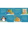 Set of Web Banners Winter Holiday Celebration vector image vector image