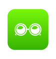 spectacles icon green vector image