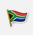 sticker flag south africa vector image