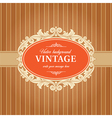 Vintage Background Frame Template vector image vector image