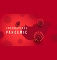 voronavirus pandemic horizontal banner vector image vector image