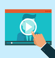 webinar concept in flat style vector image