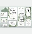 wedding invitation invite card design with willow vector image