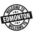 welcome to edmonton black stamp vector image vector image