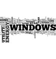 windows and killer utility bills text word cloud vector image vector image