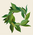 wreath green leaves in different shades vector image vector image