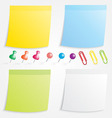 Post Paper and Pin Collection vector image