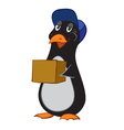 a cartoon penguin vector image vector image