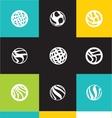 Abstract circle logo icon set vector image vector image
