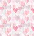 abstract seamless pattern with color hearts vector image vector image
