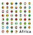 Africa round flags vector image