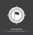 aim business deadline flag focus icon glyph vector image vector image