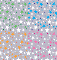 background shining stars vector image vector image