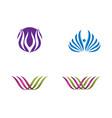 beauty flowers design logo vector image vector image