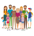 Big happy family Several generations vector image