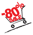 big sale 80 percentage discount 2 vector image vector image