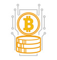 bitcoin system digital financing and banking vector image