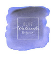 blue abstract watercolor background vector image vector image