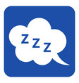 blue white sign - zzz speech bubble icon vector image