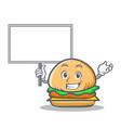 bring board burger character fast food vector image vector image
