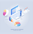 business analysis technology isometric vector image