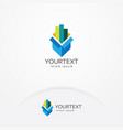business and finance logo vector image