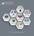 Business Infographics Hexagon can be used for vector image vector image