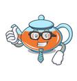 businessman transparent teapot character cartoon vector image