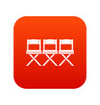 chairs icon digital red vector image