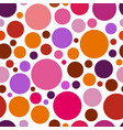 chaotic pattern round colorful graphic dots vector image vector image