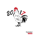 chinese symbol 2017 - rooster vector image vector image