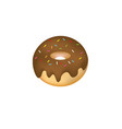 chocolate donut with sprinkles vector image