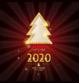 christmas and happy new year 2020 vector image vector image