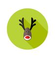 Christmas Deer Flat Icon vector image