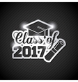 congratulations class of 2017 card vector image vector image
