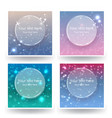 cute abstrack bokeh backgrounds set vector image vector image