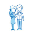 cute couple holding baby boy standing image vector image vector image