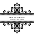 Decorative lace frame vector image vector image