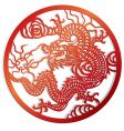 Dragon cut of chinese style vector image