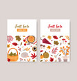 fall sale poster template autumn seasonal vector image