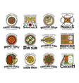 food chinese cuisine isolated national dishes vector image