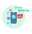 for online banking concept vector image vector image