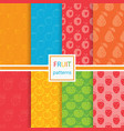 fruits seamless patterns set vector image