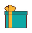 giftbox present isolated icon vector image vector image