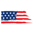 grunge flag of united states of america vector image