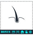 Hair icon flat vector image