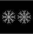 helm of awe aegishjalmur or egishjalmur icon set vector image vector image