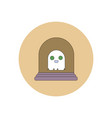 in flat design halloween icon vector image vector image