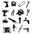 Industrial tools icons set vector image vector image